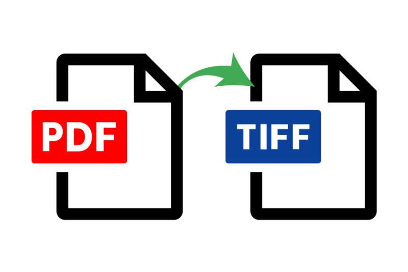 PDFデータを1BIT_TIFFに変換